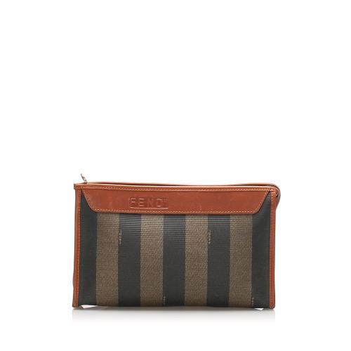 Fendi Pequin Clutch Bag