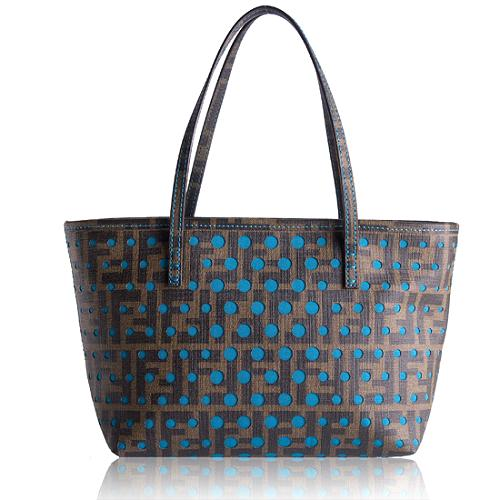 Fendi Perforated Zucca Spalmati Small Tote
