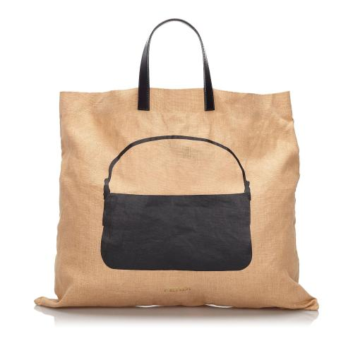 Fendi Printed Hemp Tote