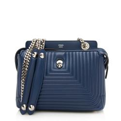Fendi Quilted Leather Dotcom Small Shoulder Bag