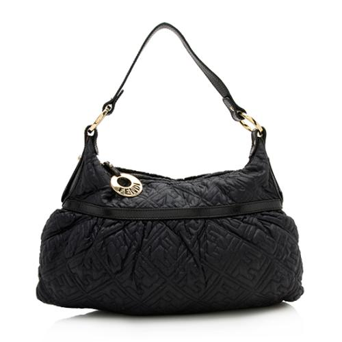 Fendi Quilted Nylon FF Chef Large Hobo