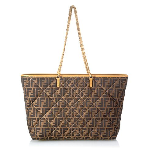 Fendi Quilted Zucca Roll Tote