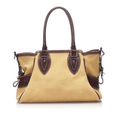 Fendi Raffia Du Jour Shoulder Bag