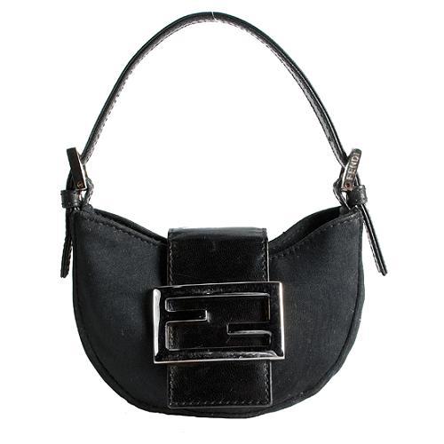 Fendi Satin Mini Hobo Handbag