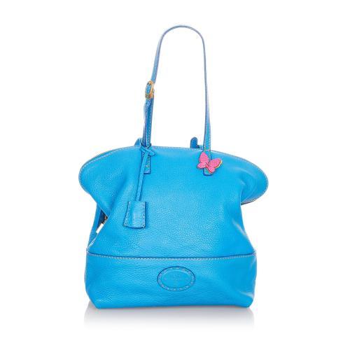Fendi Selleria 2Bag Leather Shoulder Bag