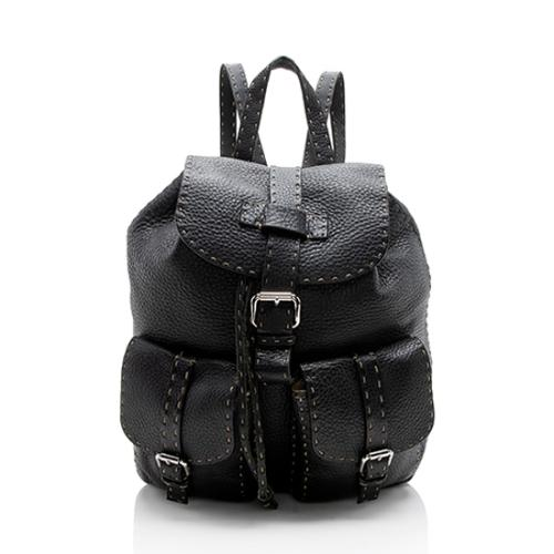 Fendi Selleria Leather Backpack