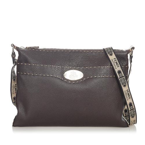 Fendi Selleria Leather Crossbody Bag