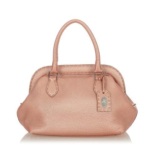 Fendi Selleria Leather Handbag