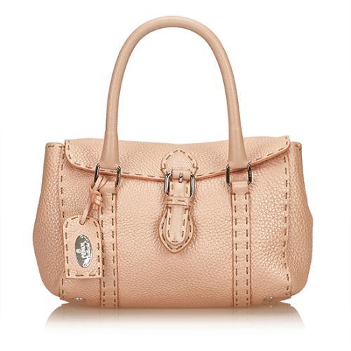 Fendi Selleria Leather Mini Linda Satchel