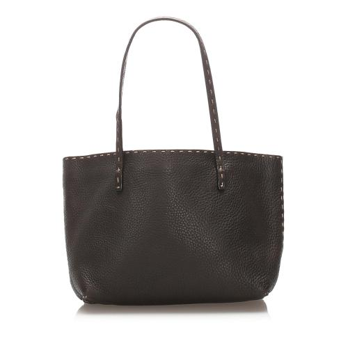 Fendi Selleria Leather Tote