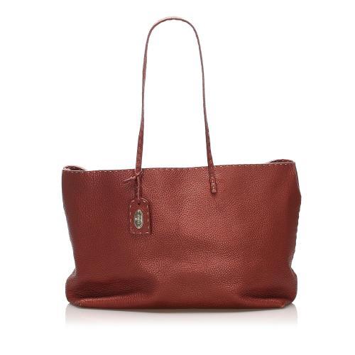 Fendi Selleria Leather Tote Bag