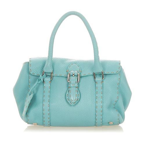 Fendi Selleria Linda Leather Handbag