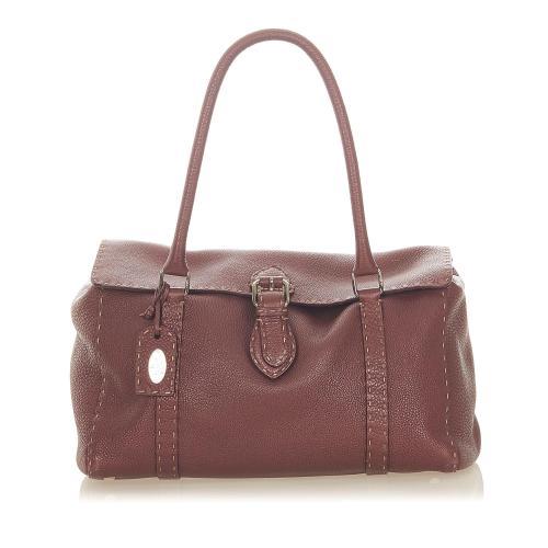 Fendi Selleria Linda Leather Shoulder Bag