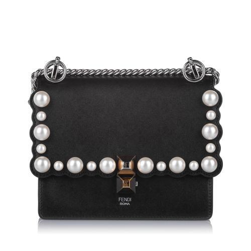 Fendi Small Kan I Pearl Leather Crossbody Bag