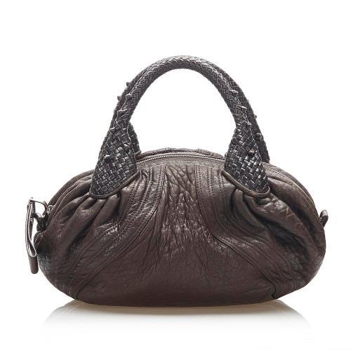 Fendi Spy Leather Handbag