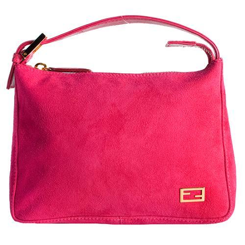 Fendi Suede Small Shoulder Handbag