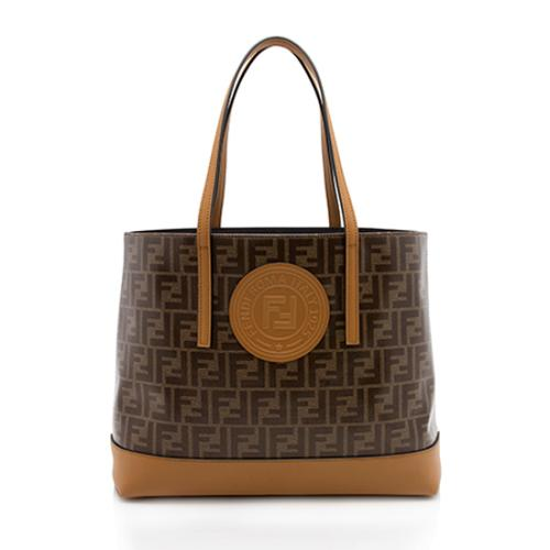 Fendi Vetrificato FF Coated Canvas Shopper Tote