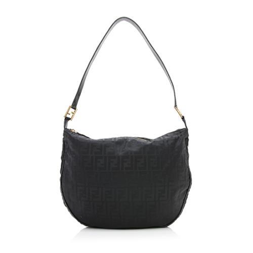 Fendi Vintage Nylon Zucca Shoulder Bag