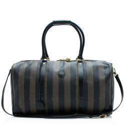Fendi Vintage Pequin Duffel Bag