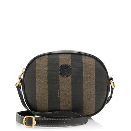 Fendi Vintage Pequin Round Crossbody Bag