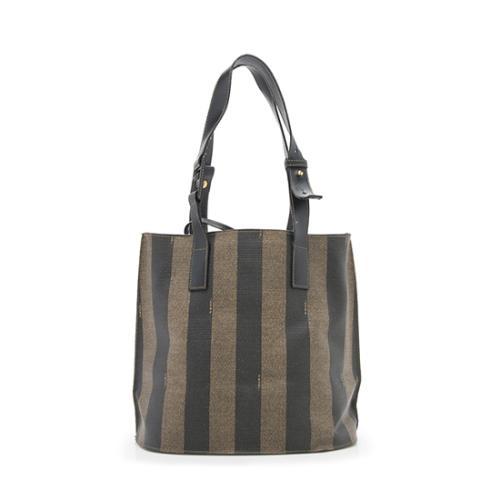Fendi Vintage Pequin Shoulder Bag