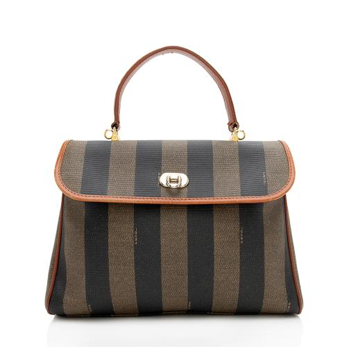Fendi Vintage Pequin Top Handle Satchel