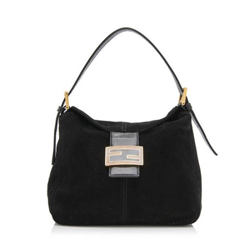 Fendi Vintage Suede Shoulder Bag