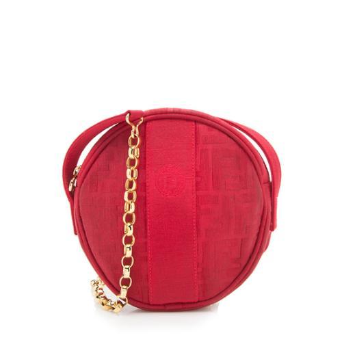 Fendi Vintage Zucca Round Crossbody Bag