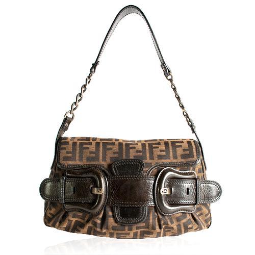 Fendi Zucca B Bag Shoulder Handbag
