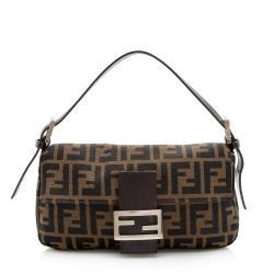 Fendi Zucca Baguette Shoulder Bag
