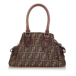Fendi Zucca Etniko Canvas Handbag