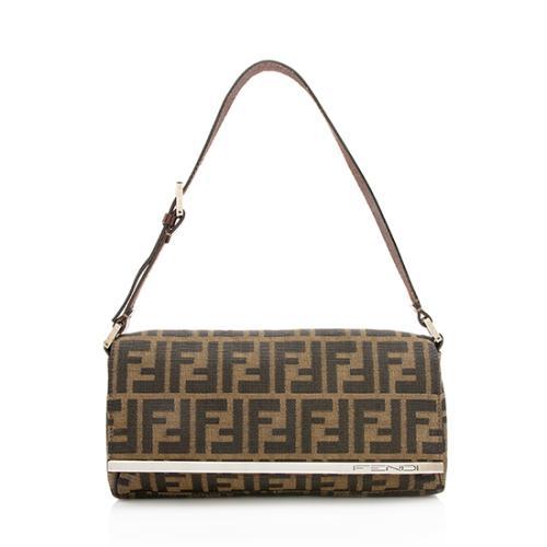Fendi Zucca Metal Bar Shoulder Bag
