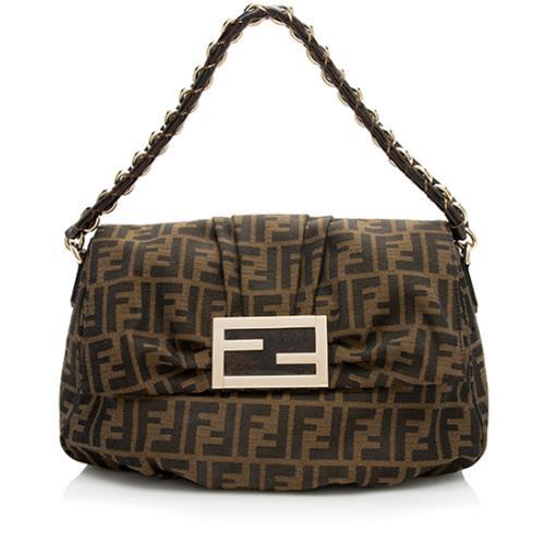 Fendi Zucca Mia Flap Shoulder Bag