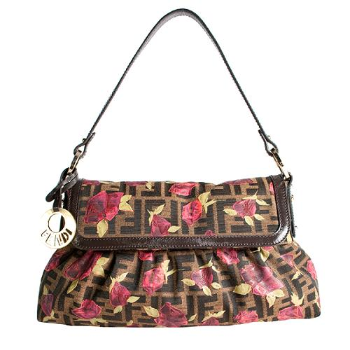 Fendi Zucca Roses Medium Chef Shoulder Handbag