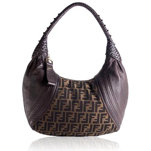 Fendi Zucca Spy Hobo Handbag