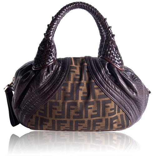 Fendi Zucca Spy Satchel Handbag