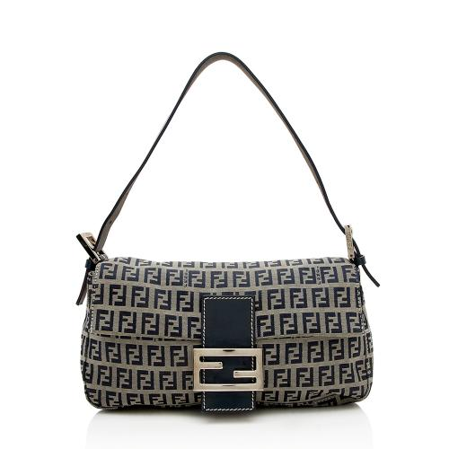 Fendi Zucchino Baguette Shoulder Bag