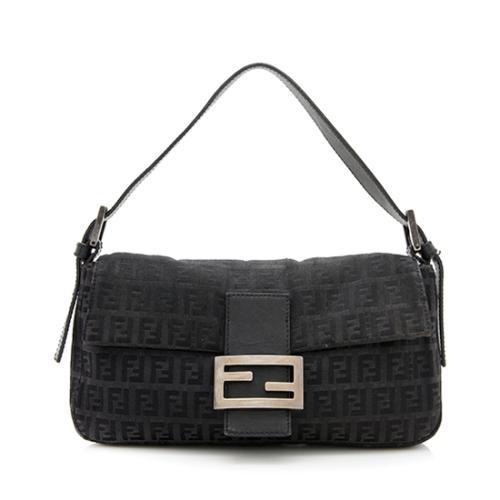 Fendi Zucchino Baguette Shoulder Bag