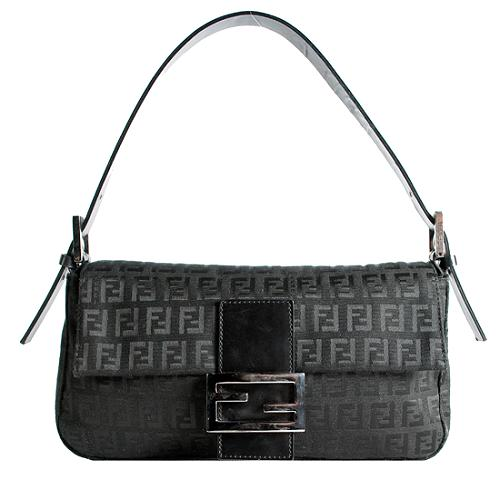 Fendi Zucchino Baguette Shoulder Handbag