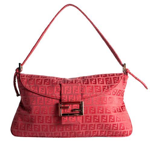 Fendi Zucchino Flap Shoulder Handbag