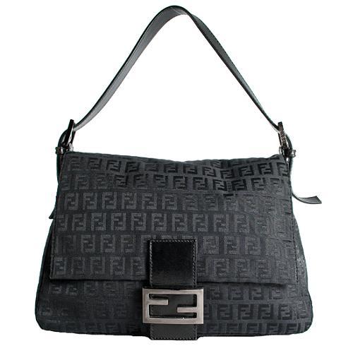 Fendi Zucchino Mamma Forever Shoulder Handbag