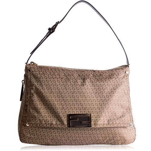Fendi Zucchino Mamma Shoulder Handbag