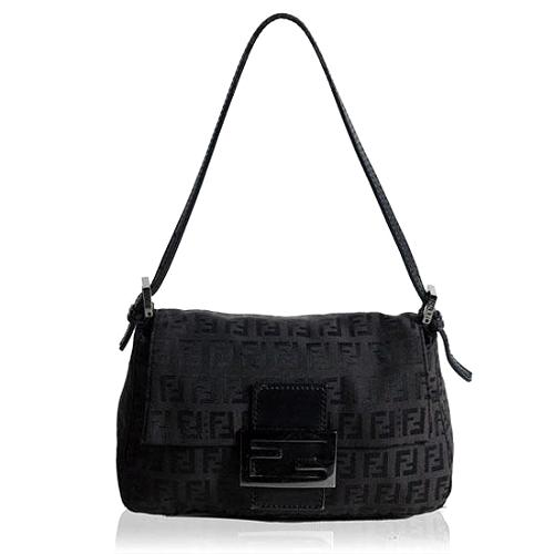 Fendi Zucchino Mini Mamma Shoulder Handbag - FINAL SALE