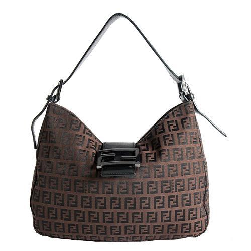 Fendi Zucchino Mini Mamma Shoulder Handbag