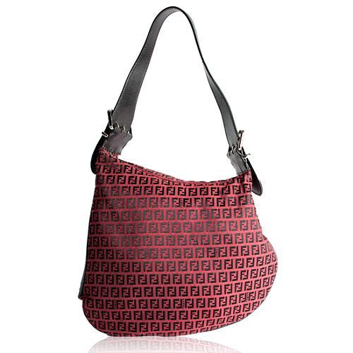 Fendi Zucchino Oyster Large Hobo Handbag