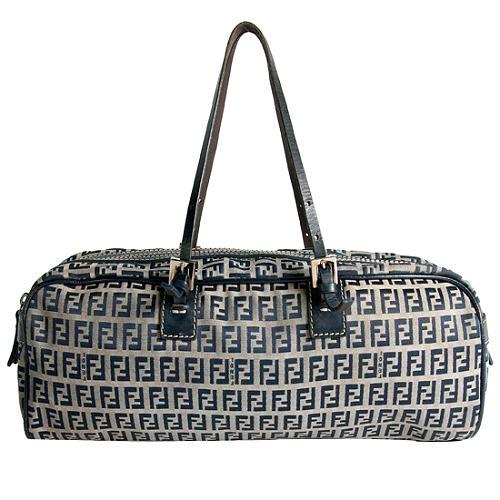 Fendi Zucchino Satchel Handbag