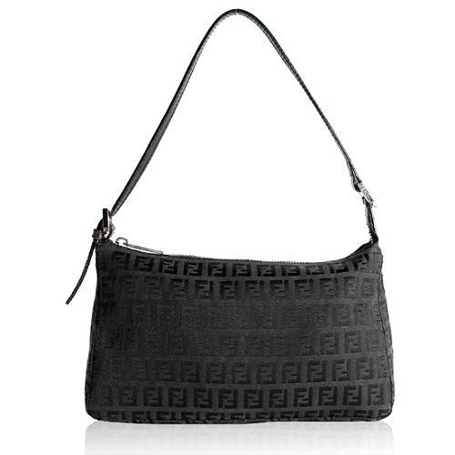 Fendi Zucchino Small Shoulder Handbag