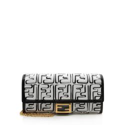 Fendi x Joshua Vides FF Logo Leather Wallet with Chain