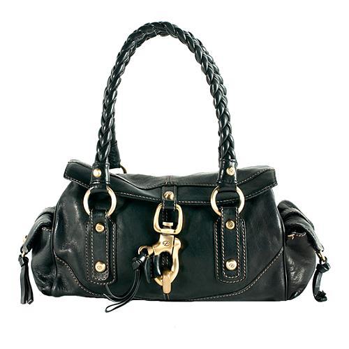 Francesco Biasia Braided Handle Satchel Handbag