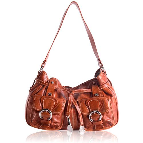 Francesco Biasia Leather Hobo Handbag
